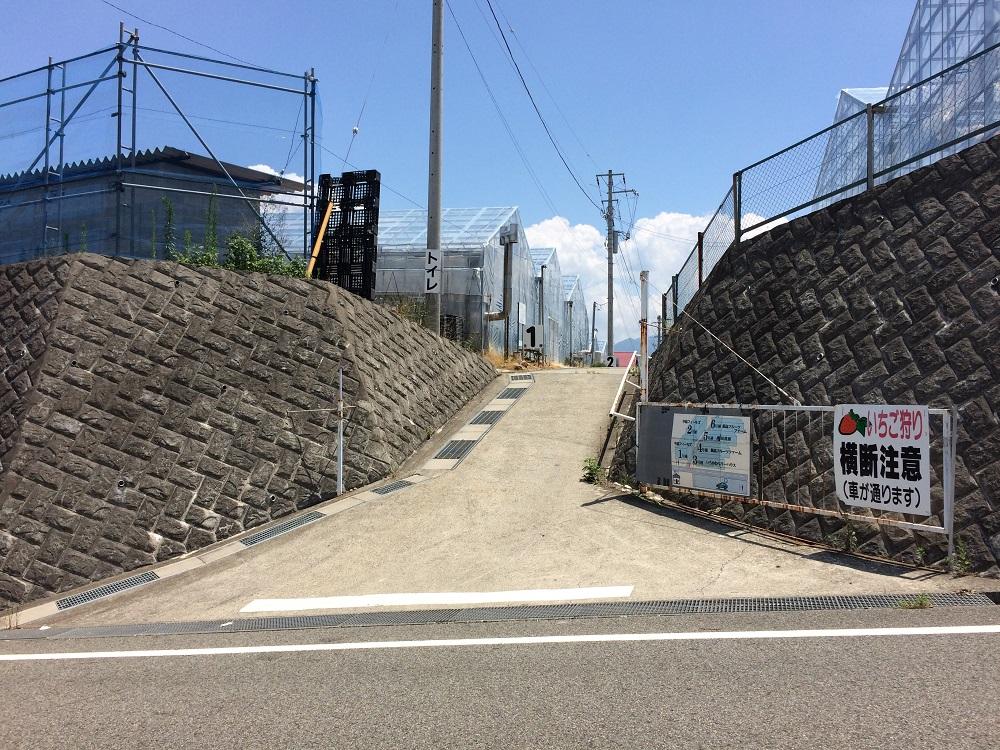 中島農園入り口